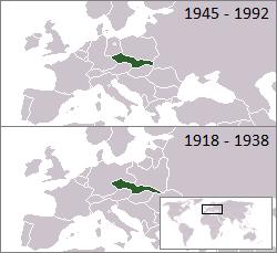 Mapa de Checoslovaquia actualizado