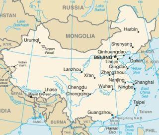 Mapa de China actualizado